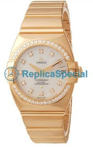Omega Constellation 1199.75.00 Womens 18kt gult gull Bralecet Automatic Watch