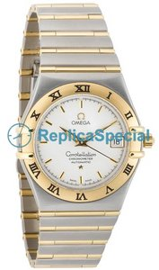 Omega Constellation 1202.30.00 Silver Dial Mens 18k Rose Gold Bezel Watch